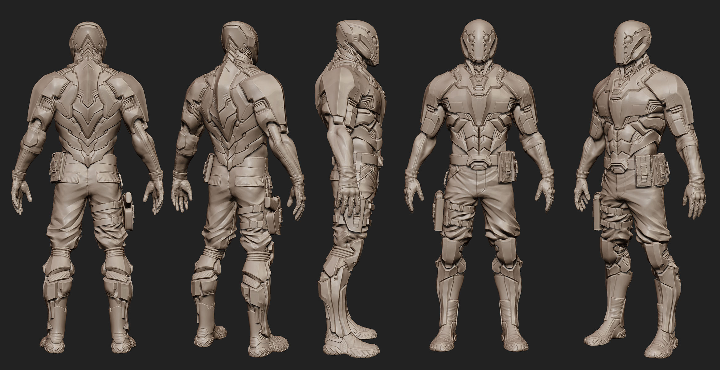 Cyborg Soldier Concept Art
