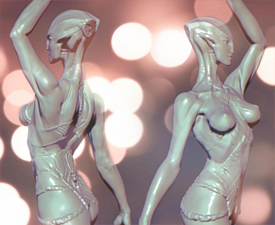 Phobos alien dancer by mojette