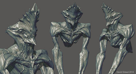 Crowned alien zbrush