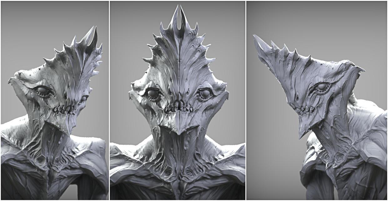 Crowned alien render by mojette
