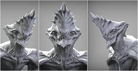 Crowned alien render