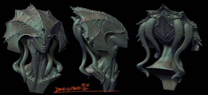 Clam alien Zbrush