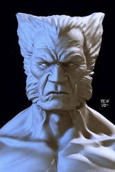 wolverine front view by mojette