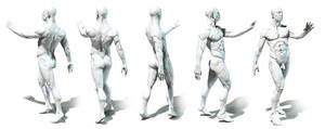 Anatomy study posing 1