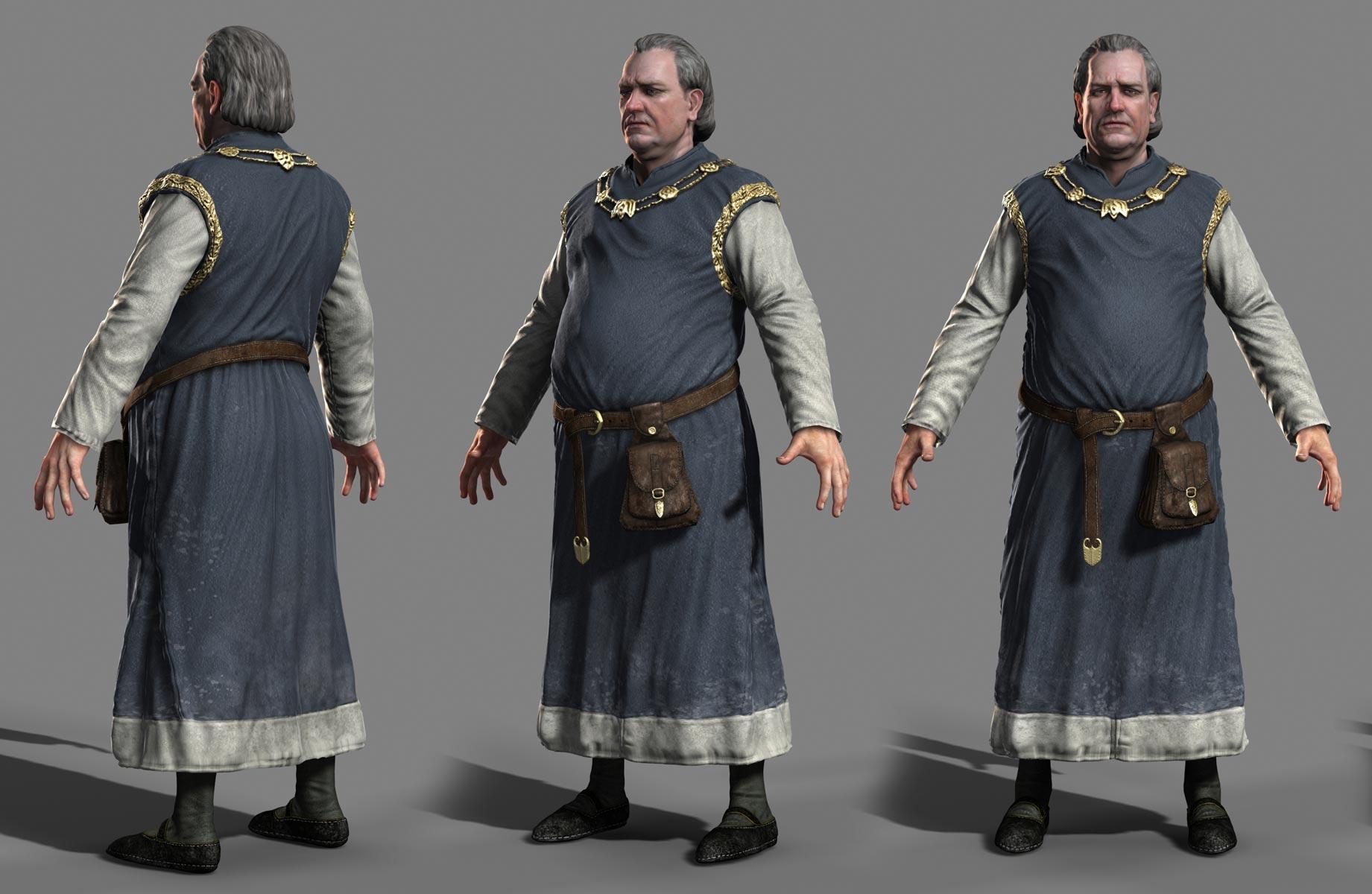 Medieval Art Elderly Men Clothing