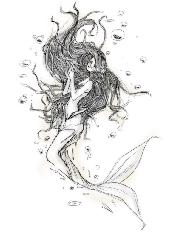 Sketch mermaid by ovod
