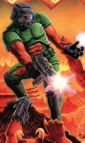 Fantasy DLC Characters~Doomguy Mortal Kombat 9 by JohnnyOTGS on