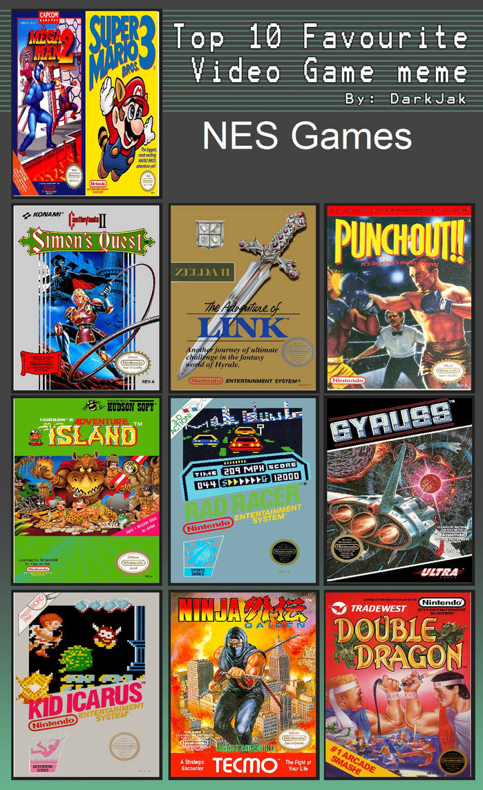 Johnny's Top 10 NES Games by JohnnyOTGS on DeviantArt