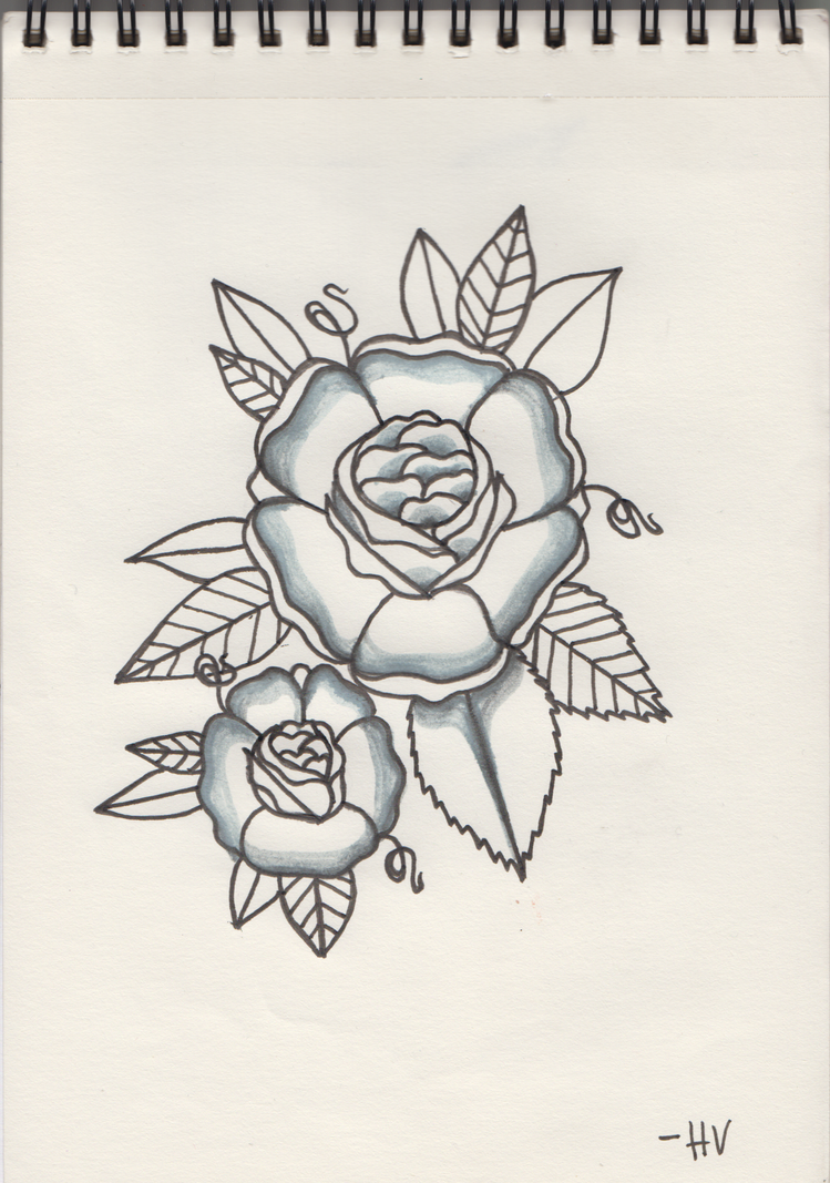 Traditional Flower Tattoo Design by D-ragonstone on DeviantArt