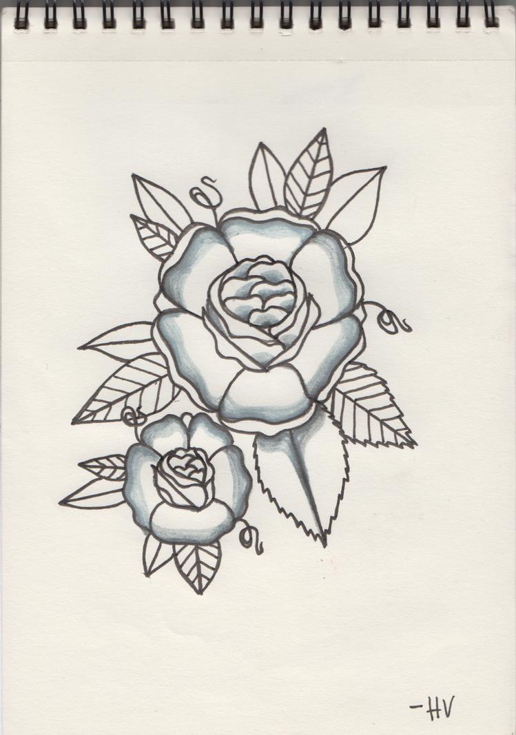 traditional flower tattoo design by d ragonstone on deviantart. Black Bedroom Furniture Sets. Home Design Ideas
