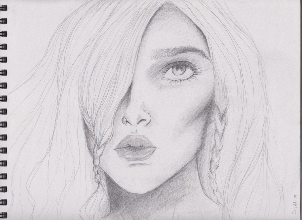 face sketch by D-ragonstone