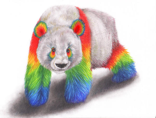 Rainbow Panda by squanpie on DeviantArt