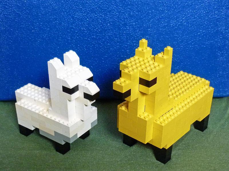 Lego Llamas by squanpie