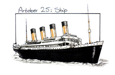 Inktober 25: Ship