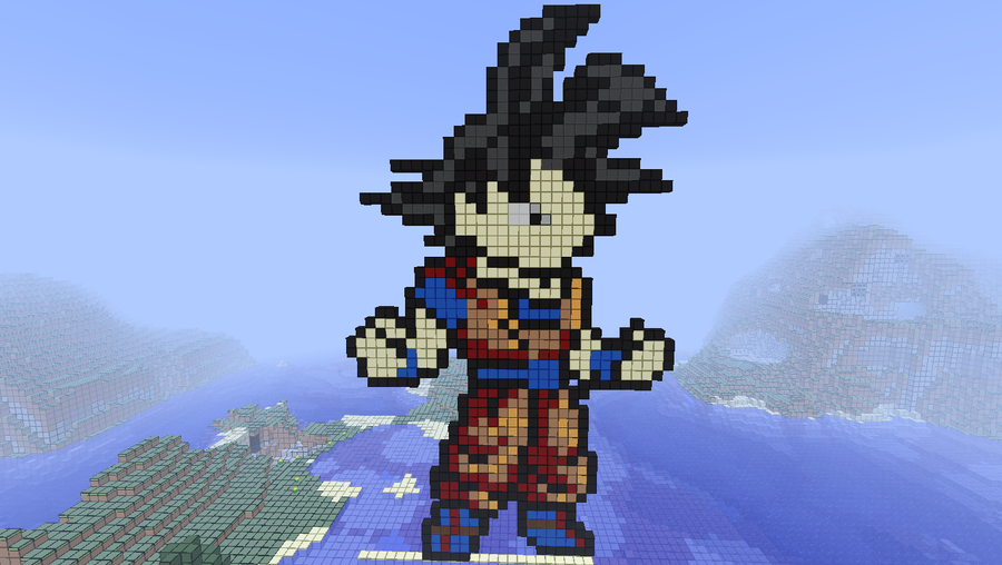 Minecraft Pixel Art - Goku by CorkinKid
