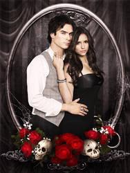 Vampire Diaries Damon Elena by Keati