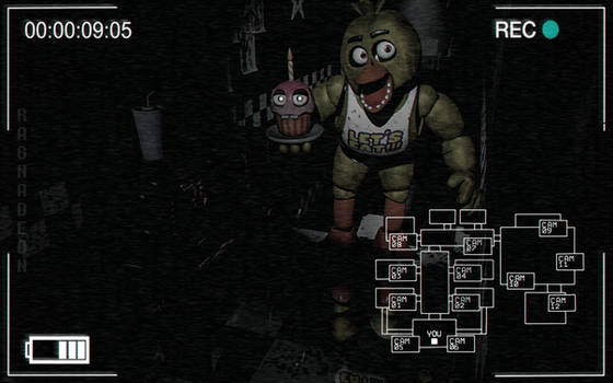 FNaF1 | Chica the Chicken | Camera View by Ragnadeon