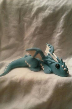 Blue and White Sleepy Dragon