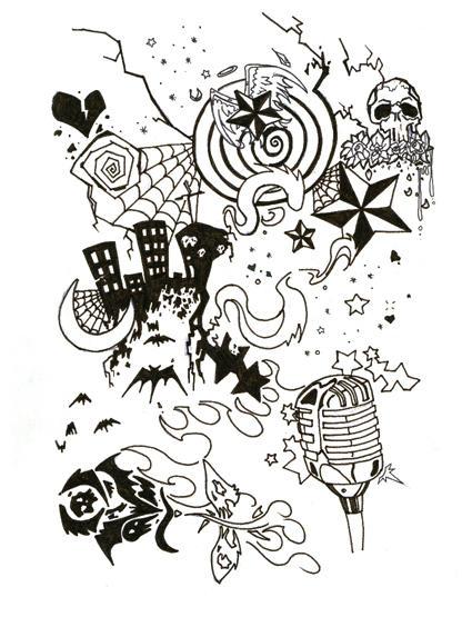Half sleeve by argentosoma on deviantart for Half sleeve tattoo sketches