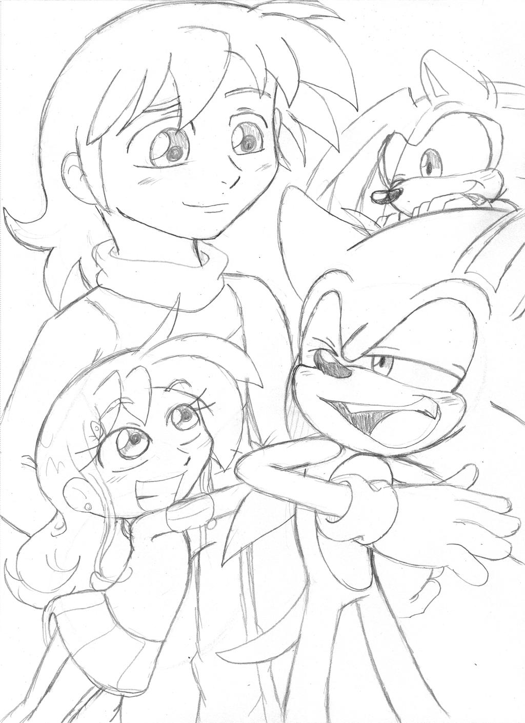 Chris:Lily:Sonic:Shadic by Narcotize-Nagini