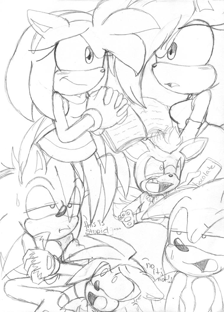 Sonic Underground Printable Coloring Pages Sonic Underground Coloring Pages