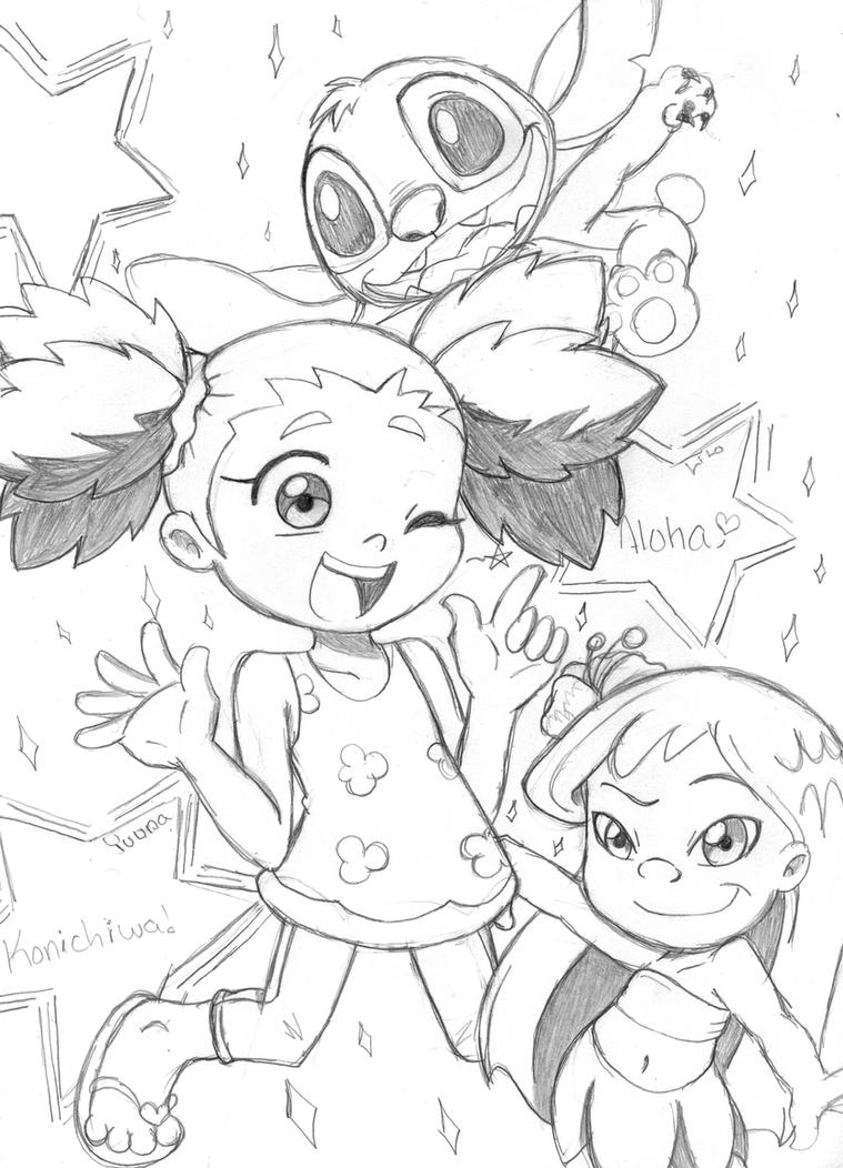 Stitch and his girls by Narcotize-Nagini on DeviantArt