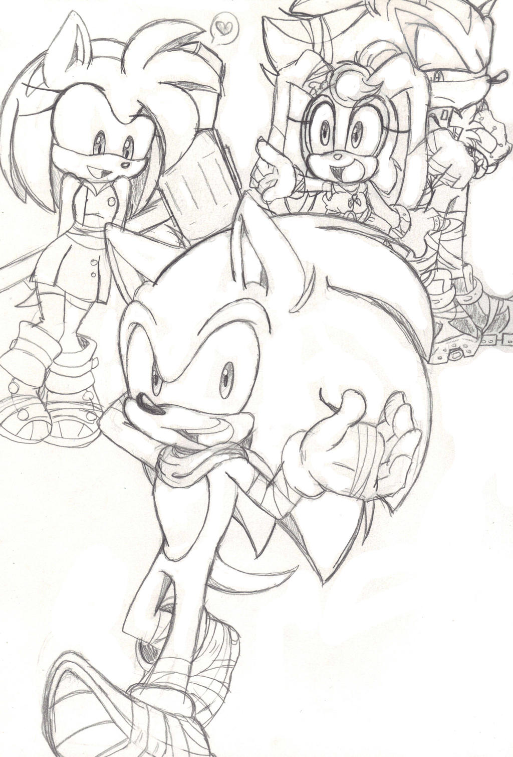 how to draw sonic from sonic boom