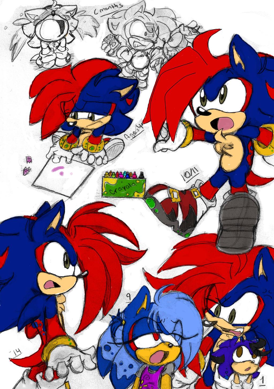 Shadow X Sonic Mpreg Sonic fankids f...
