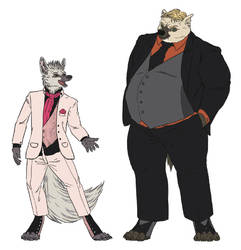 Eric and Lablo in wedding outfit