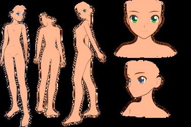 Female Charactersheet base 2 (Average) by ShoranSenSaora