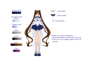 [DA] Sailor Quaoar: Reference by Snowshi