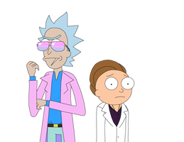 Dimension V-984: Miami Rick and Morty by The-Artist-64