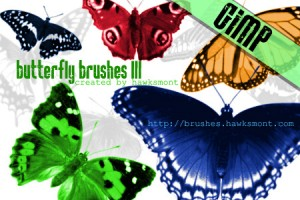 Gimp Butterfly Brushes by blitherjust