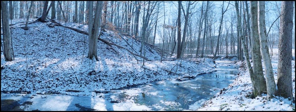 Ice creek, framed.img102 by harrietsfriend