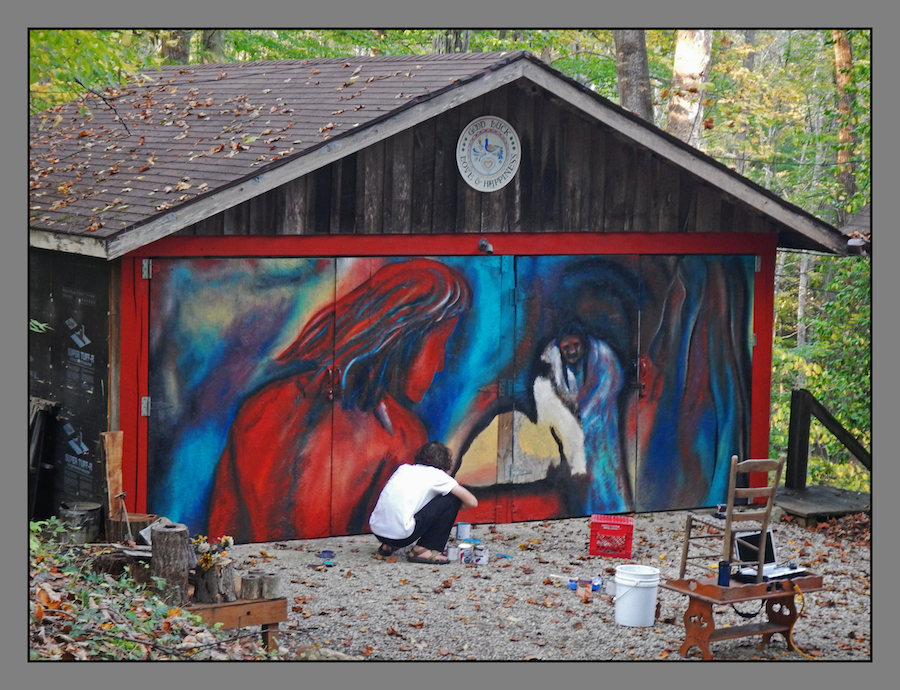 Garage artist.DSCN2312, with story by harrietsfriend