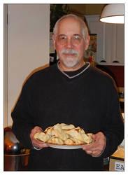 Proud baker. DSCN3992, with story by harrietsfriend