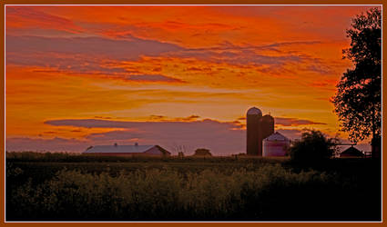 Farm sunrise. L1000470, with story