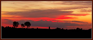 Farm sunset. L1000580, with story by harrietsfriend