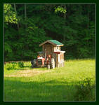 Tractor and chicken coop. L1001627, with story by harrietsfriend