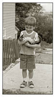 Boy with kitten. img475, with story