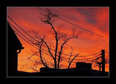 City sunset. DSCN5311, with story