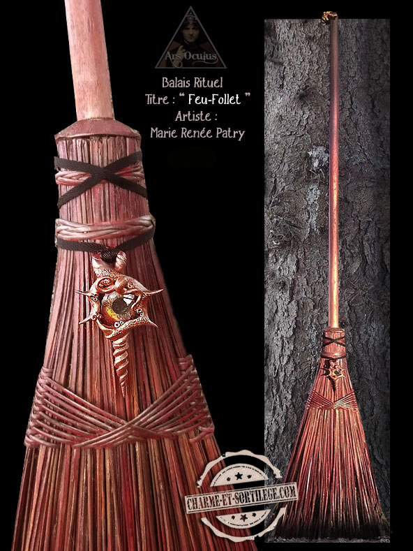 Ritual Broom - Will-o'-the-wisp by ArsOculus