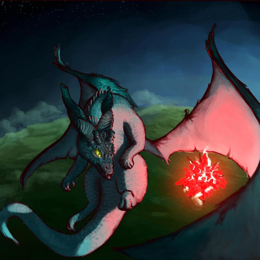 Dragon study by Braukoly