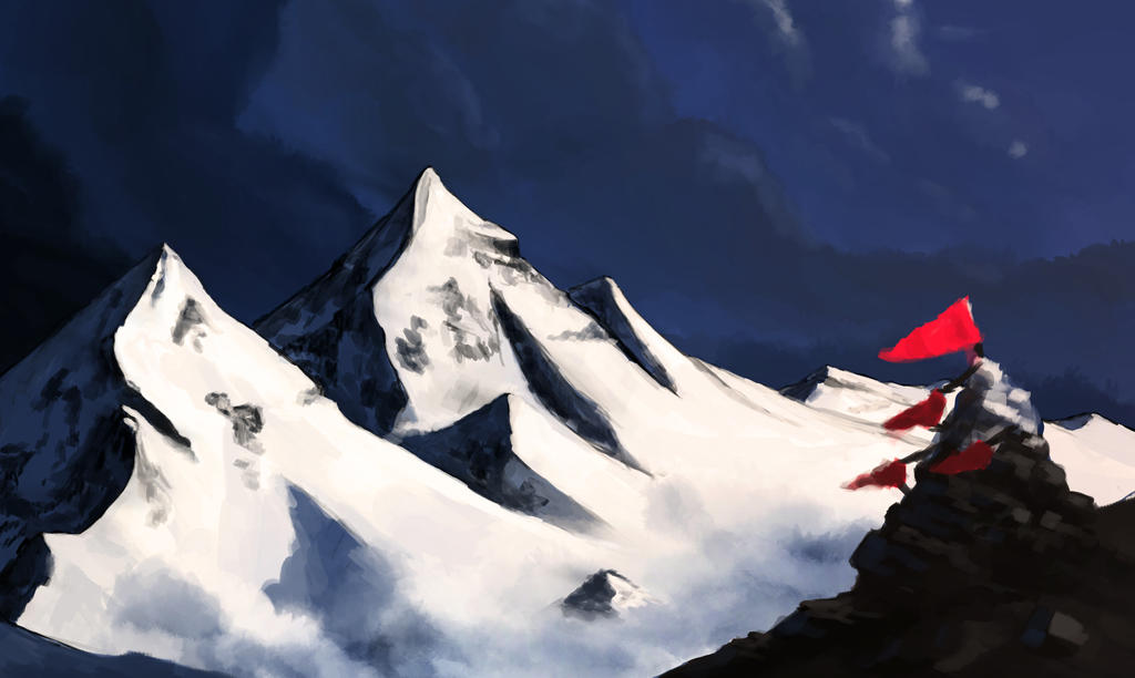 Mountains study by Braukoly