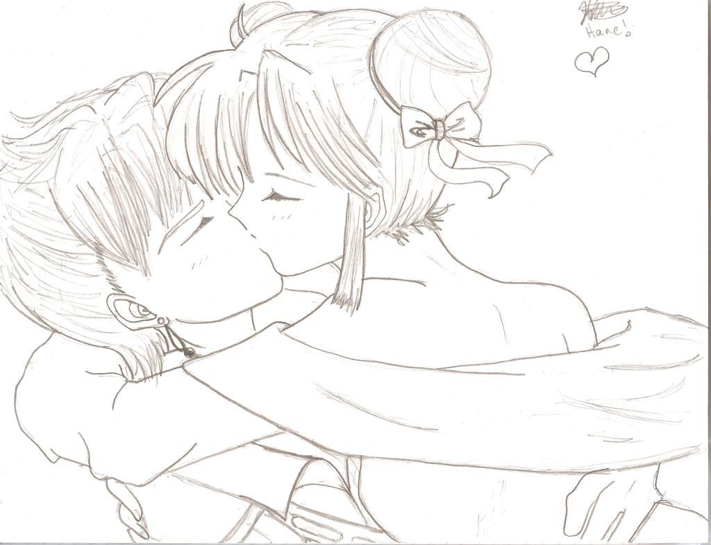 Miaka kissing Tasuki by hanepoo on DeviantArt