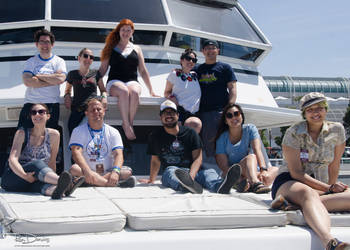Geek and Sundry Team on the Pegasus