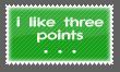 I like three points Stamp by Kyoakuno