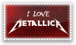 I love Metallica Stamp by Kyoakuno