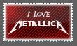 I love Metallica Stamp by Kyoakuno