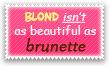 Blond - Brunette Stamp by Kyoakuno